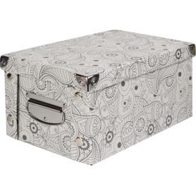 Коробка картон 30x20x15 см, узор
