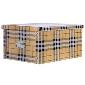 Коробка картон 45x35x22.5 см, клетка