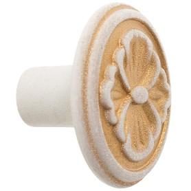 Ручка-кнопка FB-025 000 цвет золотой прованс/жемчуг белый матовый