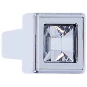 Ручка-кнопка FB-018 000 цвет глянцевый хром кристалы