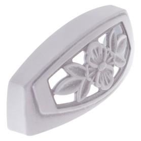 Ручка мебельная FM-088 64 мм цвет серебро прованс/ белый матовый