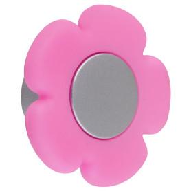 Ручка кнопка В-052 000 цвет сатин/розовый