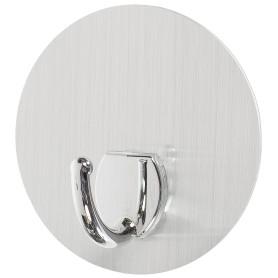 Крючок на силиконовом креплении, d 10 мм, до 2.5 кг, цвет серебро