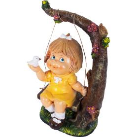 Фигура садовая «Девочка на качелях» высота 48 см