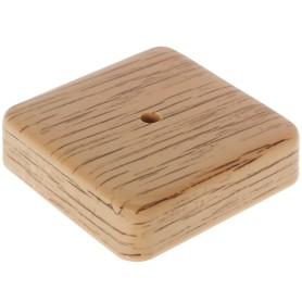 Коробка распределительная ОП 75х75х20 мм цвет дуб
