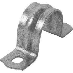 Скоба оцинкованная Iek с двойным отверстием D15 мм 10 шт.