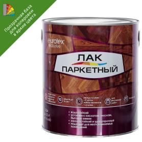 Лак паркетный алкид-уретанановый Eurotex Exclusive полуматовый бесцветный 2.5 л
