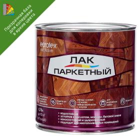 Лак паркетный алкид-уретанановый Eurotex Exclusive матовый бесцветный 0.75 л