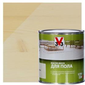 Масло-воск для пола V33 цвет белый 0.75 л