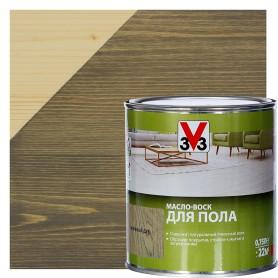 Масло-воск для пола V33 цвет мореный дуб 0.75 л