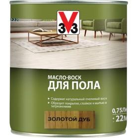 Масло-воск для пола V33 цвет золотой дуб 0.75 л