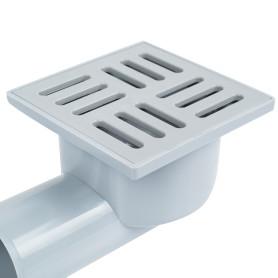 Трап для душа 100х100 мм гидрозатвор, пластиковая решетка