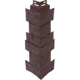 Угол наружный FineBer Камень дикий цвет коричневый