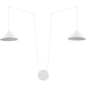 Светильник подвесной Inspire «Somerset», 2 лампы, 6 м2, подключение в розетку, с диммером, цвет белый