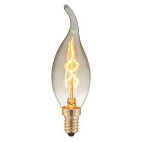 Лампа накаливания Elektrostandard «Эдисон E-C35T» E14 230 В 40 Вт свеча декоративная прозрачная 220 лм, тёплый белый свет