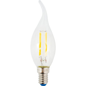 Лампа светодиодная Uniel свеча на ветру E14 6 Вт 500 Лм, свет холодный