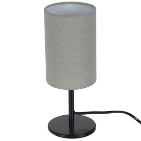 Настольная лампа Nice база 1xE14x40 Вт, металл/ткань, цвет чёрный