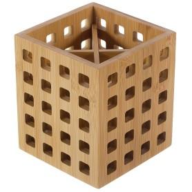 Подставка под столовые приборы BAO, 12х12х14 см, бамбук