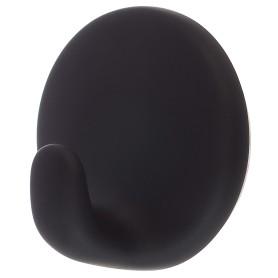 Крючок самоклеящийся чёрный