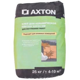 Клей для керамической плитки 33х33 см Axton 25 кг