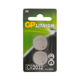Батарейка литиевая GP CR2032 2 шт.