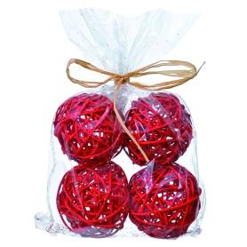 Набор ёлочных шаров «Ротанг» 4 шт.