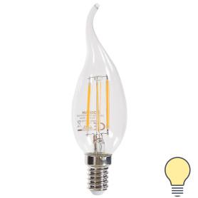 Лампа светодиодная Osram свеча на ветру E14 4 Вт 470 Лм свет тёплый белый
