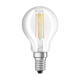Лампа светодиодная Osram шар E14 4 Вт 470 Лм свет тёплый белый прозрачная