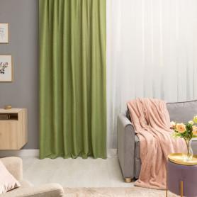 Штора на ленте со скрытыми петлями Looks 200х260 см цвет зелёный