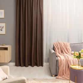 Штора на ленте со скрытыми петлями Looks 200х260 см цвет кофе