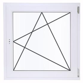 Окно ПВХ одностворчатое 90х90 см поворотно-откидное правое двухкамерное