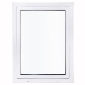 Окно ПВХ одностворчатое 120х80 см поворотно-откидное правое двухкамерное