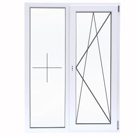 Окно ПВХ двустворчатое 120х100 см глухое/поворотно-откидное правое двухкамерное