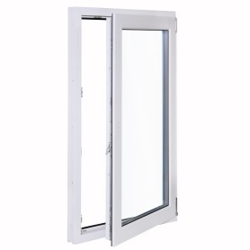 Окно ПВХ одностворчатое 120х60 см поворотное правое одно стекло