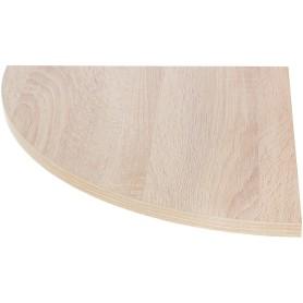 Полка мебельная угловая 350x350x16 мм, ЛДСП, цвет дуб сонома
