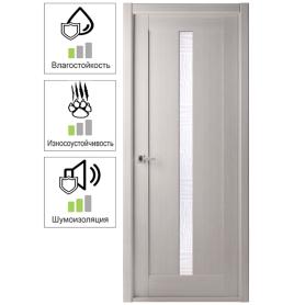 Дверь межкомнатная остекленная Челси 70x200 см, цвет ясень скандинавский
