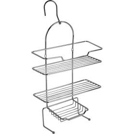 Полка для ванной комнаты трехъярусная на крюках