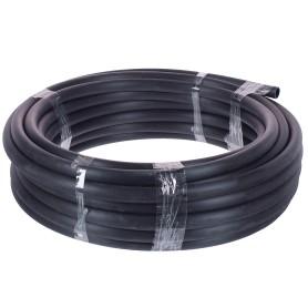 Труба гладкая жесткая ПНД Iek D25 25 м бухта цвет чёрный