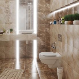 Плитка настенная Garda 27х40 см 1.08 м2 цвет коричневый
