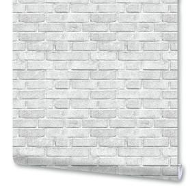 Обои бумажные гофрированные Кирпичики 0.53х10 м цвет тёмно-серый 19