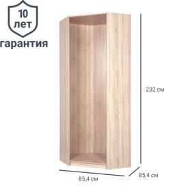 Каркас углового шкафа Лион 84x84x232 см цвет дуб сонома