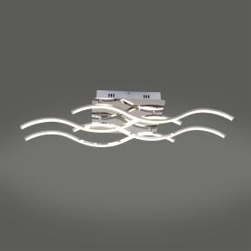 Люстра светодиодная Eurosvet Сидней 90022/4, 23 м², цвет хром