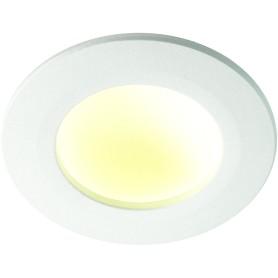Светильник светодиодный встраиваемый Novotech 8 Вт, цвет белый