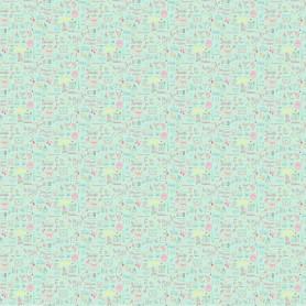 Обои бумажные для детской 0.53х10 м цветные бабочки цвет бирюзовый Ra 216714