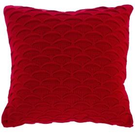 Подушка декоративная вязаная 40х40 см цвет красный