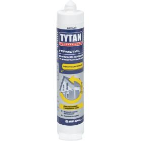 Герметик Tytan Professional силиконовый универсальный цвет белый, 80 мл