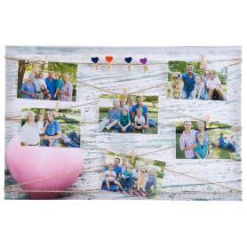 Картина на холсте под фотосет Дерево с прищепками 40х60 см, цвет белый