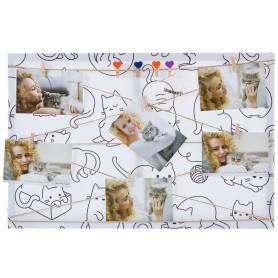 Картина на холсте под фотосет Коты с прищепками 40х60 см