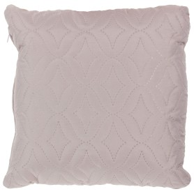 Подушка стёганая «Melissa» 40х40 см цвет бежево-серый