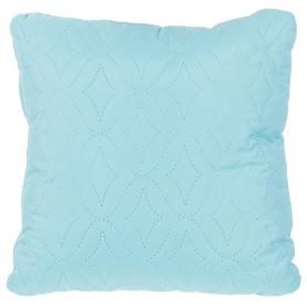 Подушка стёганая «Melissa» 40х40 см цвет бирюзовый
